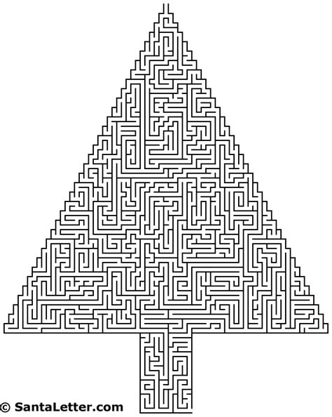 printable christmas mazes hard free lent maze coloring pages