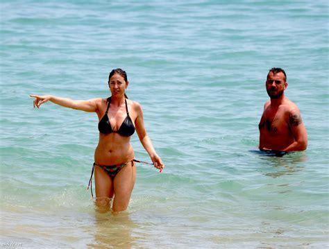 Big Natural Boobs Lisa Snowdon Topless On Beach In Ibiza Spain
