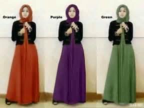 Dress Spandek Melisa Benhur M baju gamis remaja modern melisa s257 busana muslim maxi