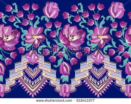 Kr Bordir Tulip Blue 1 striped tulip stock images royalty free images vectors