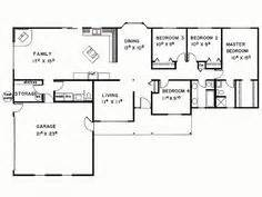 Small 4 Bedroom House Plans 1000 Images About Floor Plan On Small House