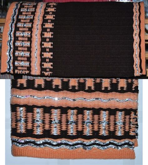 Arizona Saddle Blanket Co by Product Details Woven Saddle Blanket From The Brown