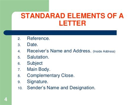 business letter elements notes how to write business letters