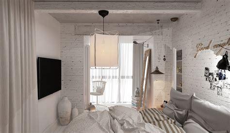Cozy Bedroom Design 3 Feminine Apartments Designed For 3 Sizes