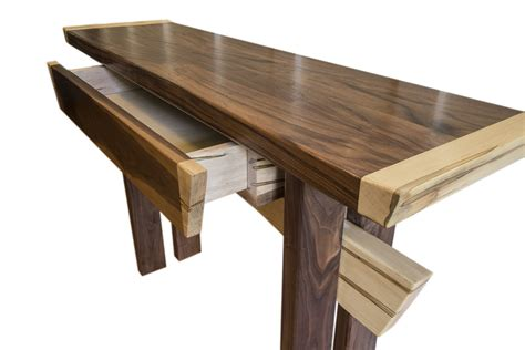 entry table buy a crafted asian inspired maple and walnut entry