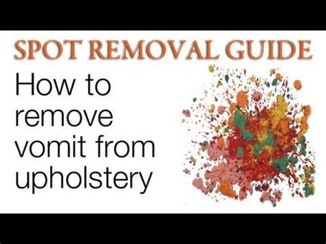 How To Clean Vomit From Car Upholstery by It S The Of Stain You Don T Want To Let Sit This