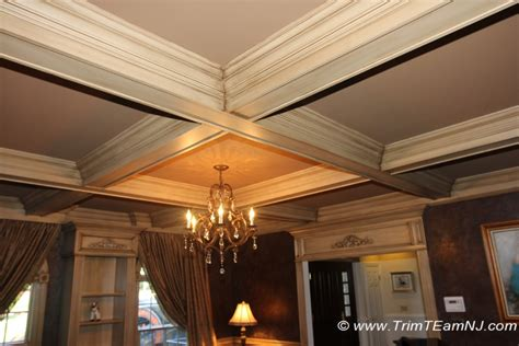 Wall Units Bookcases Coffered Ceilings And Beams Trim Team Nj Woodwork