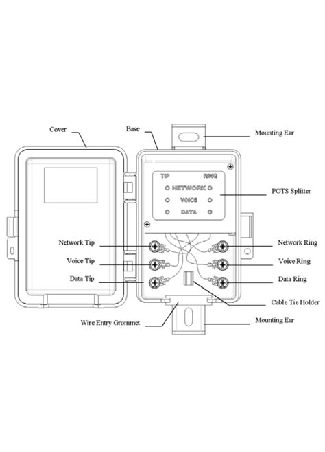 dsl splitter wiring diagram dsl electrical wiring