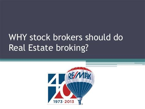 Why Get An Mba In Real Estate by Why Stock Brokers Should Join Real Estate Broking