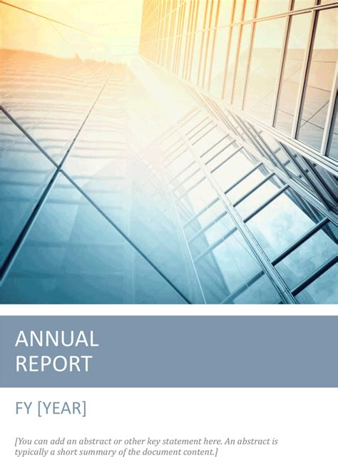 Free Templates To Create An Annual Report Annual Report Template 1 For Free Tidyform