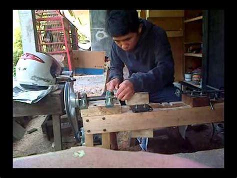 Dowel Kayu Kerajinan Kayu cara menggunakan alat bubut kayu doovi