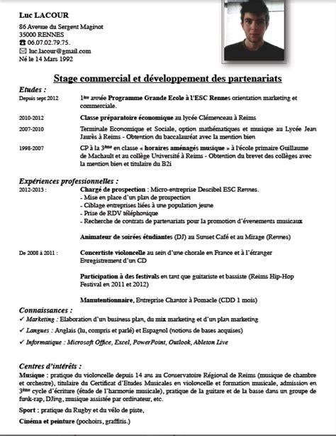 Cv Rédigé Exemple by Exemple De Cv Gratuit Manutentionnaire Sle Resume