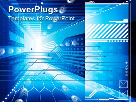 powerpoint template abstract technology depiction of