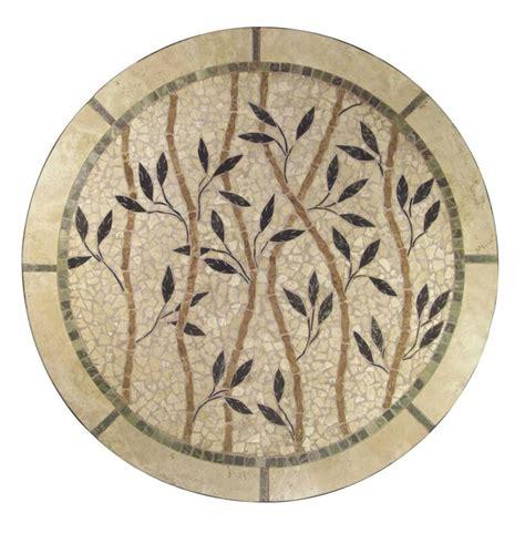 round mosaic pattern ideas mosaic natural stone table