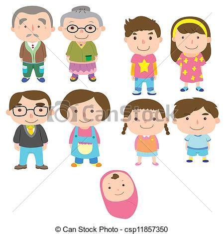 imagenes sobre la familia en caricatura vecteur clipart de dessin anim 233 famille ic 244 ne vecteur