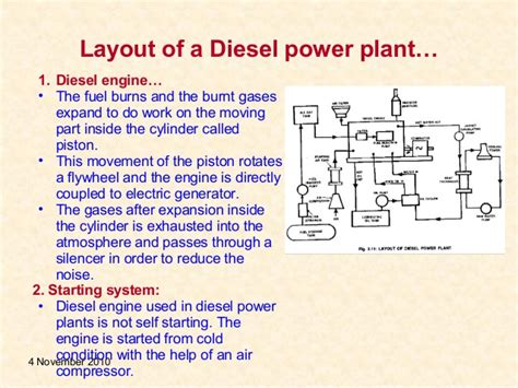 diesel power plant layout and working ppt diesel power plant