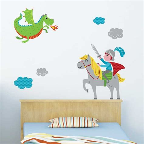 stikers chambre enfant sticker mural quot et chevalier quot motif enfant gar 231 on