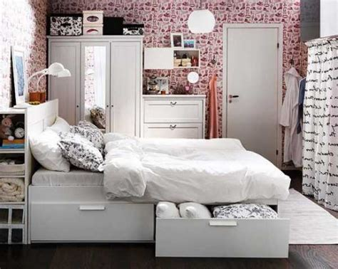 Bedroom furniture with storage drawers space saving ideas for small