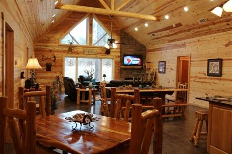 log home open floor plan kitchen luxury log cabin homes cabin lodging near beavers bend resort park and broken bow