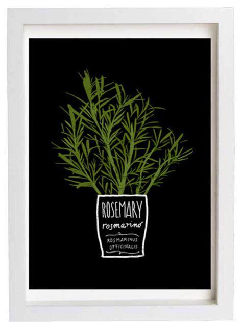 kitchen artwork modern rosemary kitchen print by anek contemporary artwork