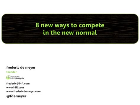 8 Ways To Land A New by 8 New Ways To Compete In The New Normal