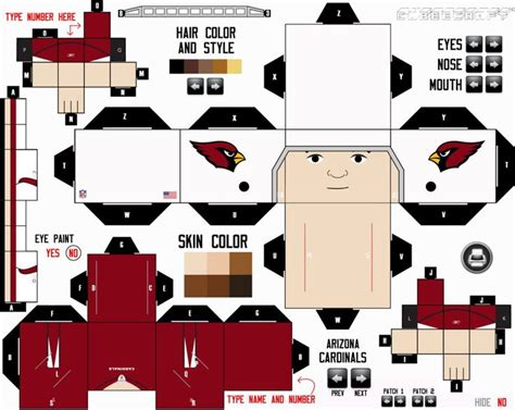 Football Papercraft - nfl cubeecraft maker all nfc teams by etchings13