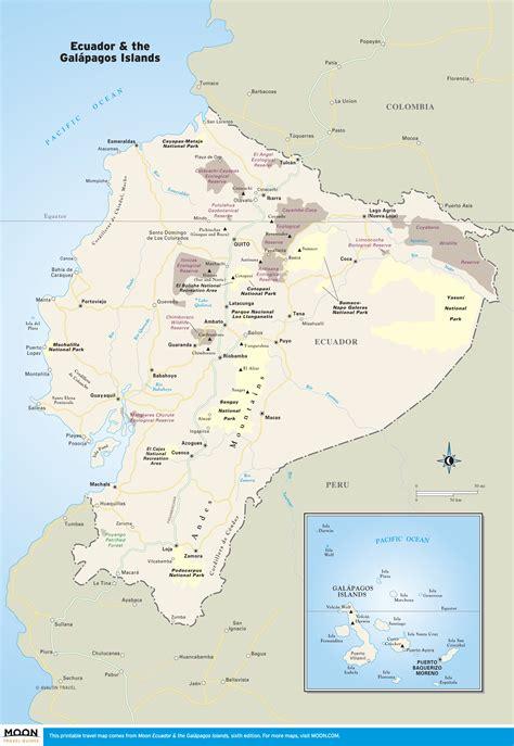 ecuador on map printable travel maps of ecuador the gal 225 pagos moon