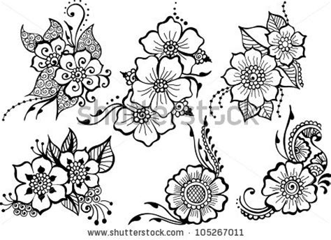 set of six black vector flowers 105267011 shutterstock
