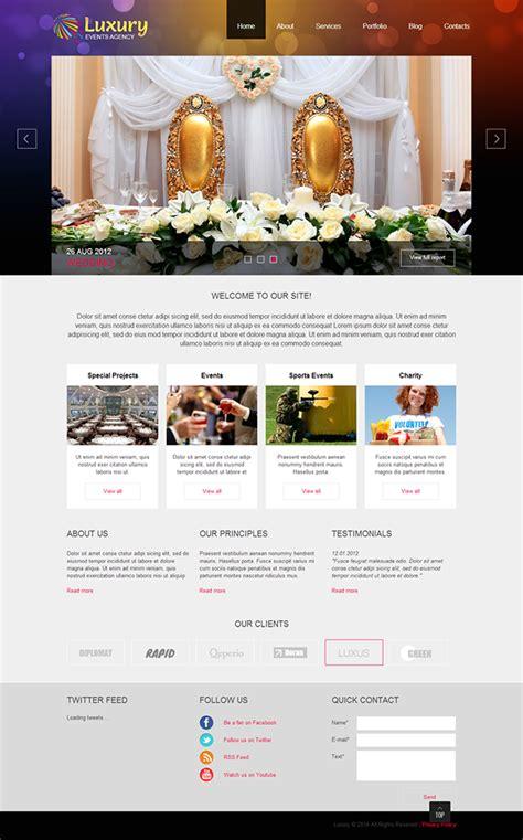 Event Planner Joomla Template On Behance Event Website Template