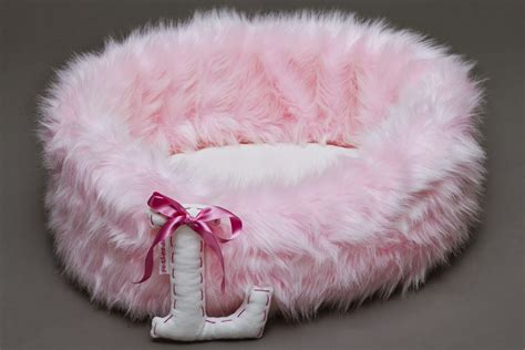 girl dog beds baby girl faux fur pet bed personalised aristopaws