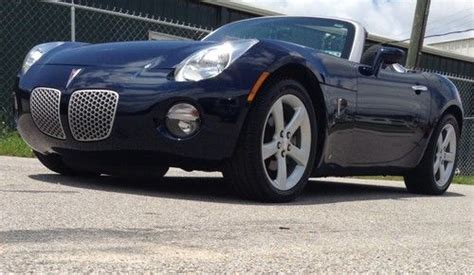 auto air conditioning service 2007 pontiac solstice spare parts catalogs purchase used pontiac solstice 2007 convertible sports car navy blue black 2 door automatic nr