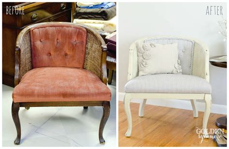 chair repair upholstery makeover reupholstered tufted cane chair the golden sycamore