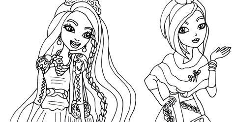 ever after high coloring pages poppy o hair free printable ever after high coloring pages holly and