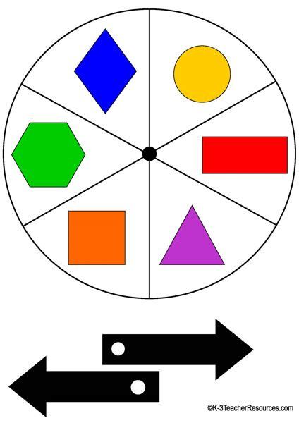 spinning card template 8 spinner templates k 3 resources