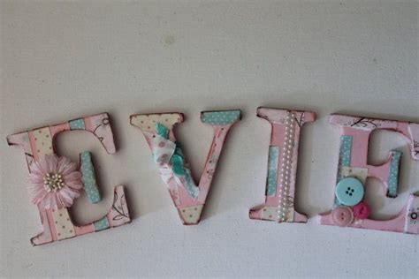 evie shabby chic collage wall letters baby girl nursery