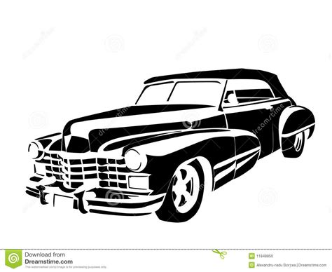old cars black and white old time cars old classic vintage car drown in black on
