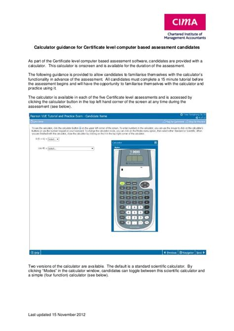 calculator level 118 certificate level calculator guidance for examinations