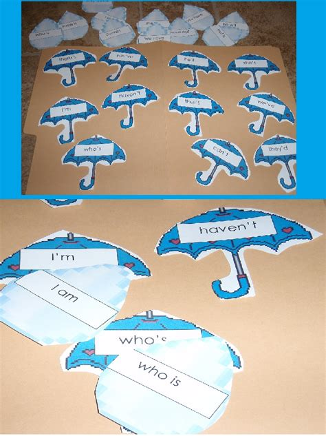 Printable Contraction Games | contractions aren t tricky to teach organized classroom