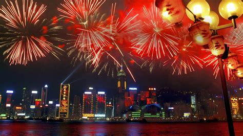 new year 2014 hong kong fireworks fireworks in harbour during the new year