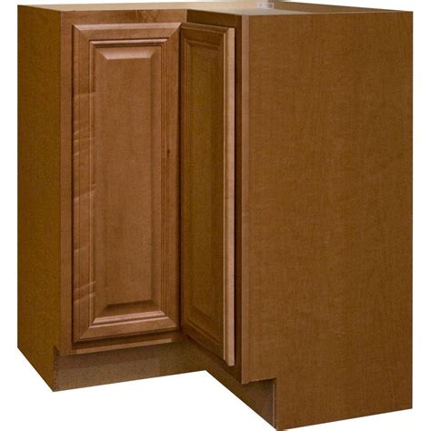 kitchen base corner cabinet hton bay cambria assembled 28 5x34 5x16 5 in lazy