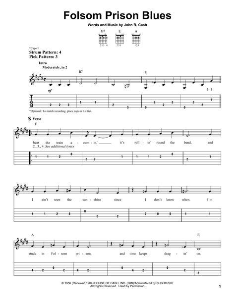 Guitar Chords Folsom Prison Blues