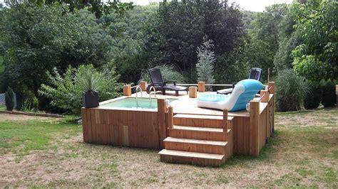mini piscine hors sol bois 3405 mini piscine hors sol avec terrasse vercors piscine