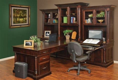 Home Computer Desks With Hutch White House Executive Peninsula Desk 12170
