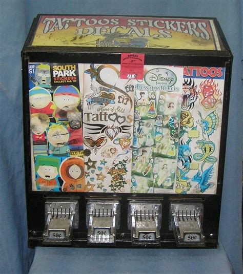 tattoo vending machine vintage coin op tattoo stickers and decal machine coin