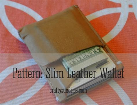 free pattern leather wallet leather wallet free pattern crafty sundries
