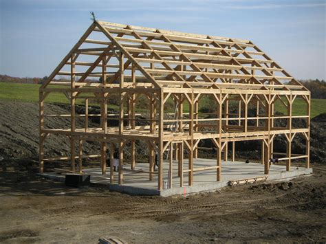 timber frame construction by vermont timber works