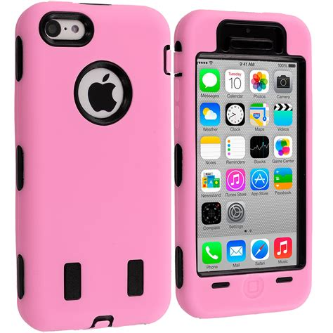 For Iphone 5c for iphone 5c color hybrid soft cover with built in screen protector ebay