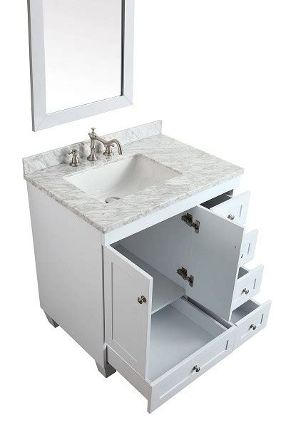 eviva evvn wh acclaim    transitional white bathroom vanity  white carrera