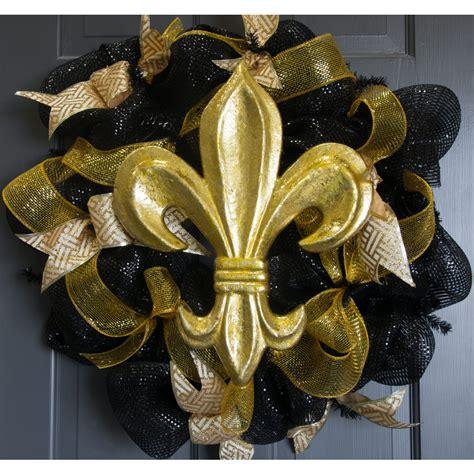 Silver Leaf Decoration by 16 Quot Gold Leaf Fleur De Lis Decoration Mz1676h6