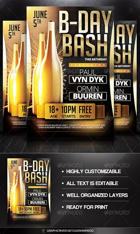 Free Birthday Bash Flyer Templates 187 Dondrup Com Bash Flyer Template